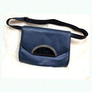 Vintage 60s clutch handbag - crossbody /shoulder